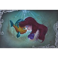 ''Ariel Flounder'' The Little Mermaid Giclée by Noah