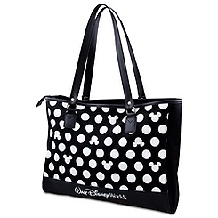 Polka Dot Walt Disney World Minnie Mouse Tote -- Black