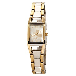 Mickey Mouse Duo-Tone Rectangular Link Watch