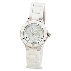 Mickey Mouse Icon Watch for Women - White