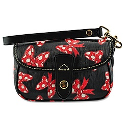 Minnie Mouse Bow Wristlet Bag by Dooney & Bourke - Black
