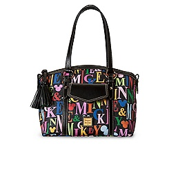Mickey and Minnie Mouse Rainbow Pocket Satchel by Dooney & Bourke