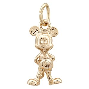 Mickey Mouse Gold Charm - 14K