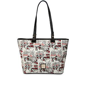 Mickey and Minnie Mouse Downtown Large Shopper by Dooney & Bourke - Red