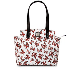 Minnie Mouse Bow Fan Shopper Bag by Dooney & Bourke - White