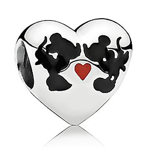 Mickey and Minnie Mouse ''Minnie & Mickey Kiss'' Charm by PANDORA