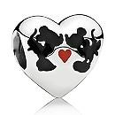 Mickey and Minnie Mouse ''Minnie & Mickey Kiss'' Charm by PANDORA