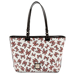Minnie Mouse Bow Shopper Tote with Wristlet Bag by Dooney & Bourke - White