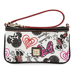 Minnie Mouse Hearts and Bows Wristlet Bag by Dooney & Bourke