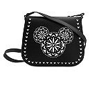 Mickey Mouse Icon Laser Cut Crossbody Bag by Vera Bradley - Black