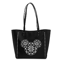 Mickey Mouse Icon Laser Cut Tote by Vera Bradley - Black