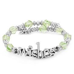Wishes Silver Wrap Bracelet by Alex and Ani