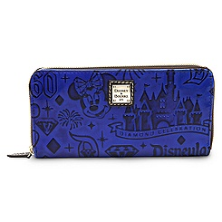 Disneyland Diamond Celebration Leather Wallet by Dooney & Bourke