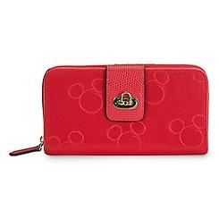 Mickey Mouse Preppy Poly Wallet by Vera Bradley - Red