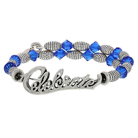 disneyland celebration silver wrap bracelet by