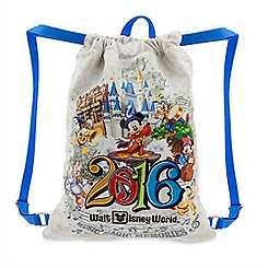 Sorcerer Mickey Mouse and Friends Cinch Sack Tote - Walt Disney World 2016