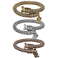 Mickey Mouse Metal Wrap Bracelet by Alex and Ani
