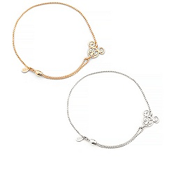 Mickey Filigree Pull Chain Bracelet by Alex and Ani