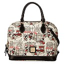 Mickey and Minnie Mouse Downtown Zip Satchel by Dooney & Bourke