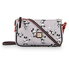 Mickey and Minnie Mouse Retro Crossbody Pouchette by Dooney & Bourke - Gray
