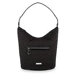 Mickey Mouse Icon Hobo Bag by Vera Bradley - Black