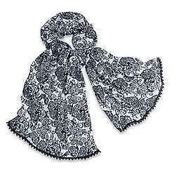 Mickey Mouse Lace Trimmed Scarf