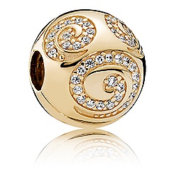 Mickey Mouse Golden Swirl Charm by PANDORA