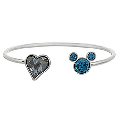 Mickey Mouse Icon Heart Cuff Bracelet - Gray/Blue