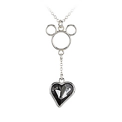 Mickey Mouse Icon Heart Necklace - Gray
