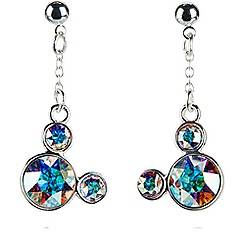 Mickey Mouse Icon Earrings - Clear