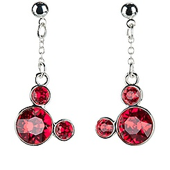 Mickey Mouse Icon Earrings - Red