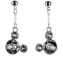 Mickey Mouse Icon Earrings - Gray