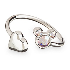 Mickey Mouse Icon Heart Ring - Clear