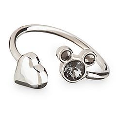 Mickey Mouse Icon Heart Ring - Gray
