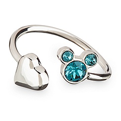 Mickey Mouse Icon Heart Ring - Blue