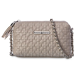 Kingdom Couture Collection Leather Quilted Crossbody Bag