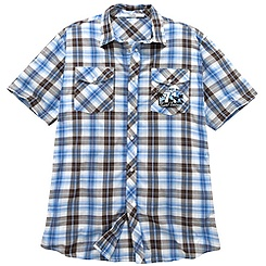 Collared ''Surf Tours'' Mickey Mouse Shirt for Men