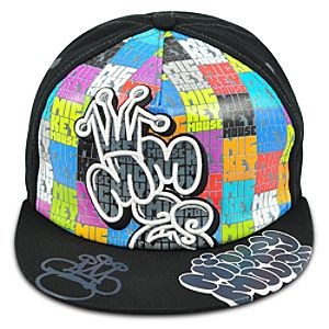 Color Block Mickey Mouse Baseball Cap for Adults