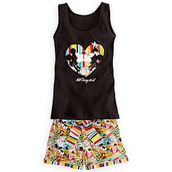 Mickey and Minnie Mouse Tank Tee and Shorts Set for Women