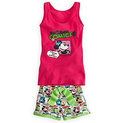 Minnie Mouse Tank Tee and Shorts Set for Women
