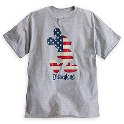Mickey Mouse Flag Tee for Adults - Disneyland