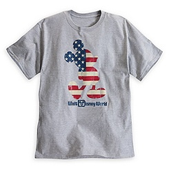 Mickey Mouse Flag Tee for Adults - Walt Disney World