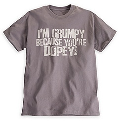 Grumpy ''You're Dopey'' Tee for Adults - Walt Disney World