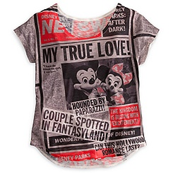 Mickey Mouse and Friends Tabloid Tee for Women - Disney Parks