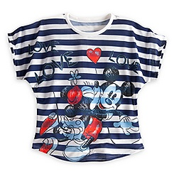 Minnie and Mickey Mouse ''Love Love Love'' Tee for Women