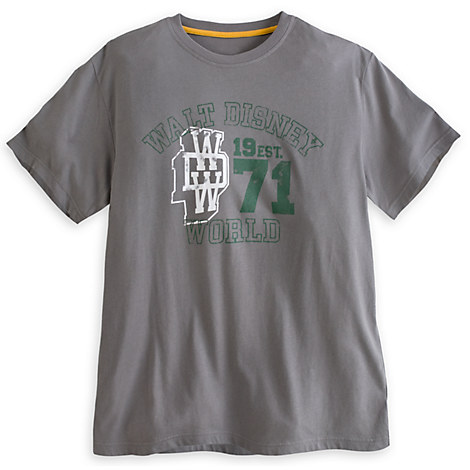 Collegiate tee for adults walt disney world