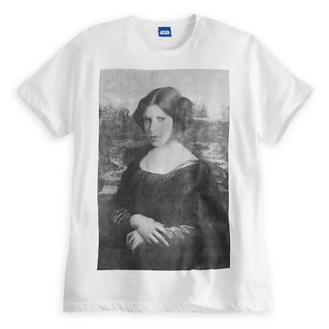 Princess Leia Mona Lisa Tee for Adults