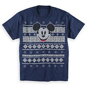 Mickey Mouse Fair Isle Tee for Adults - Navy