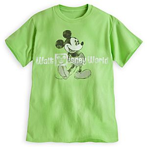 Mickey Mouse Tee for Adults - Walt Disney World - Lime