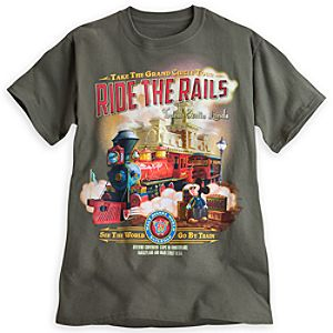 Mickey Mouse Tee for Adults - Walt Disney World Railroad